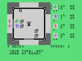 Tunnels of Doom (TI-99/4A): Separate game/exploration gameplay screens would become standard in many later CRPGs.
